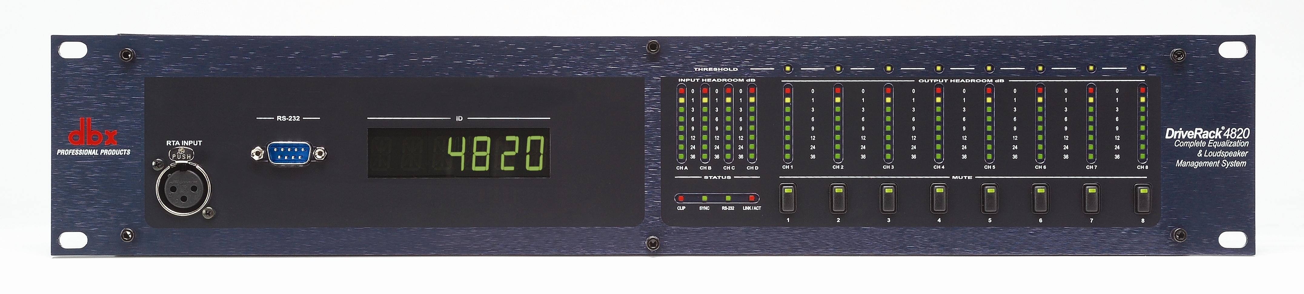 dbx Professional Products DriveRack 4800 And 4820 System Processors