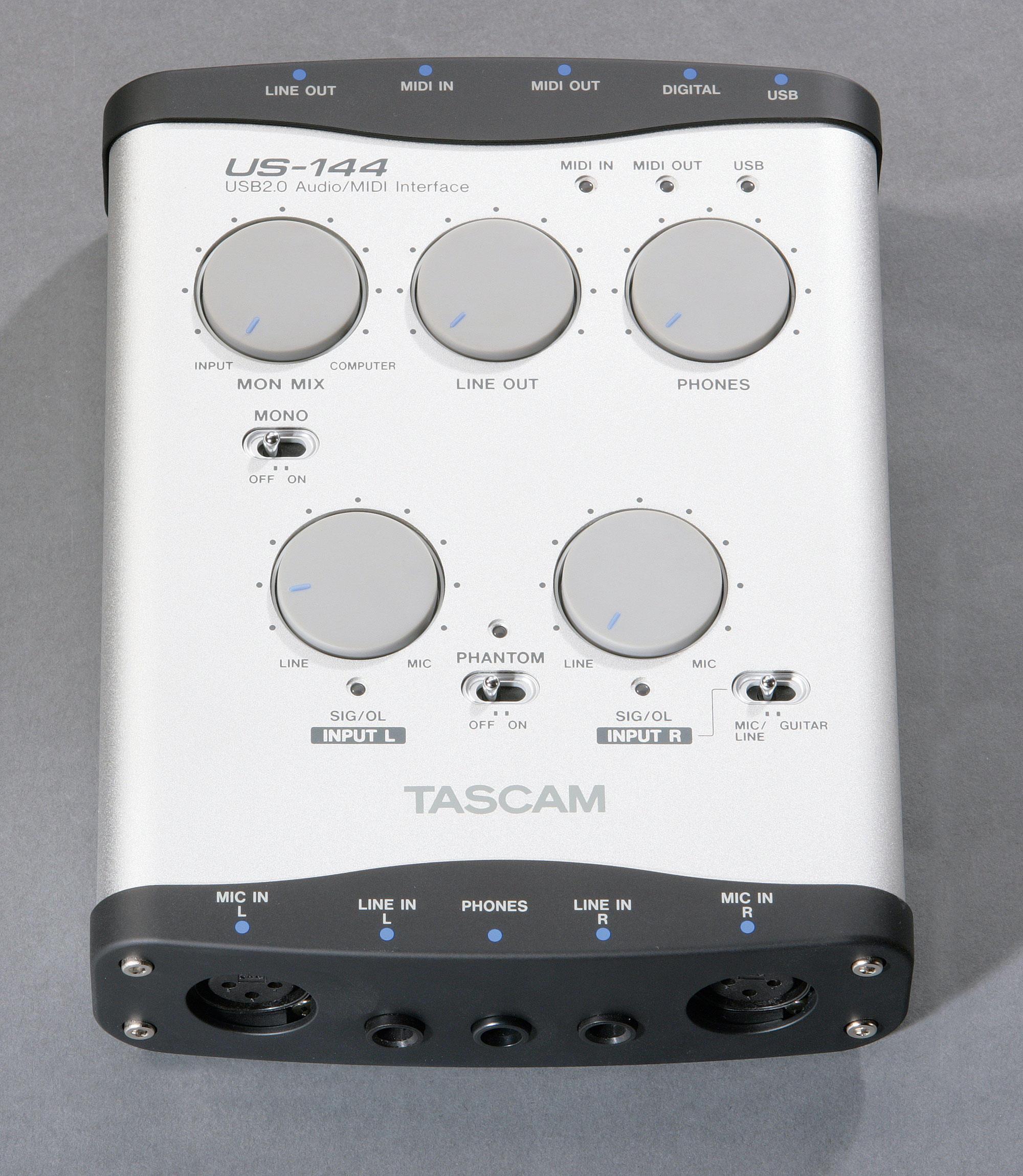 TASCAM New USB 2.0 Audio/MIDI Interfaces