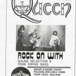 Rotosound 1976 Beat Instrumental Queen Advert